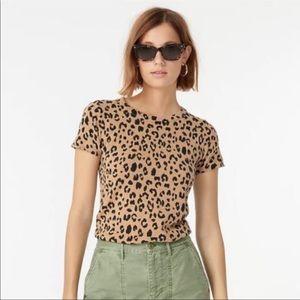 J Crew Cashmere Leopard T Shirt (A4)
